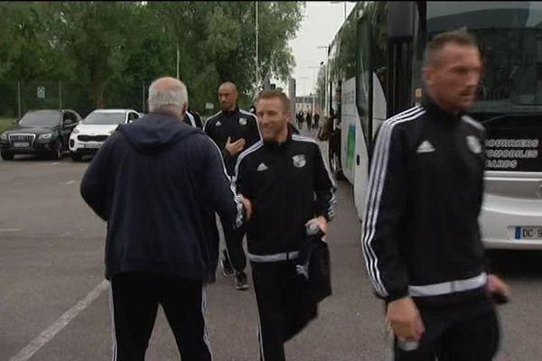 l'arrivée des joueurs de l'Amiens SC