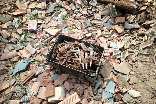 Une partie des munitions retrouvées à Wingen-sur-Moder