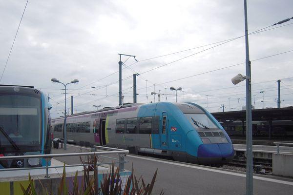 En raison des orages le trafic SNCF perturbé entre Nantes et Angers.