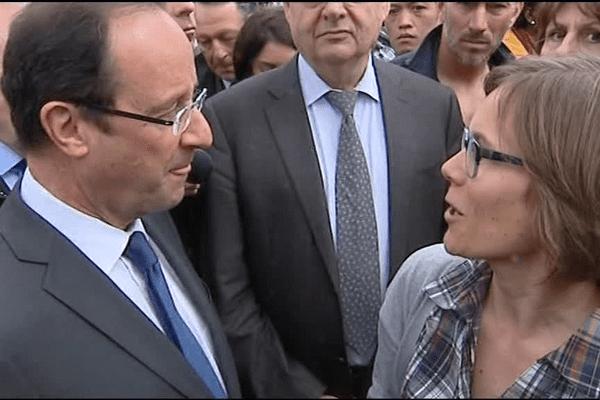 François Hollande, le candidat du PS en campagne à Vaulx en Velin début avril 2012