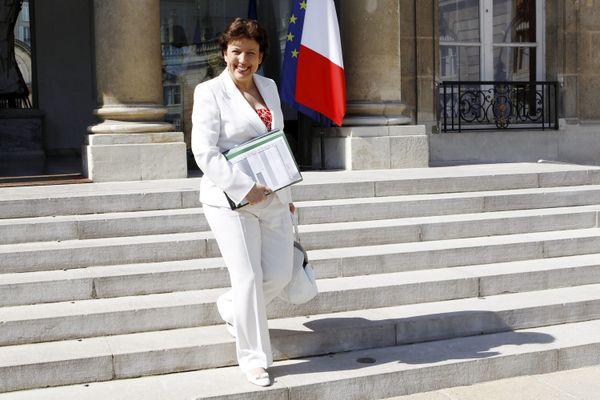 Roselyne Bachelot le 18 mai 2011, alors ministre des Solidarités et de la Cohésion sociale 2011 du 3ème gouvernement de François Fillon