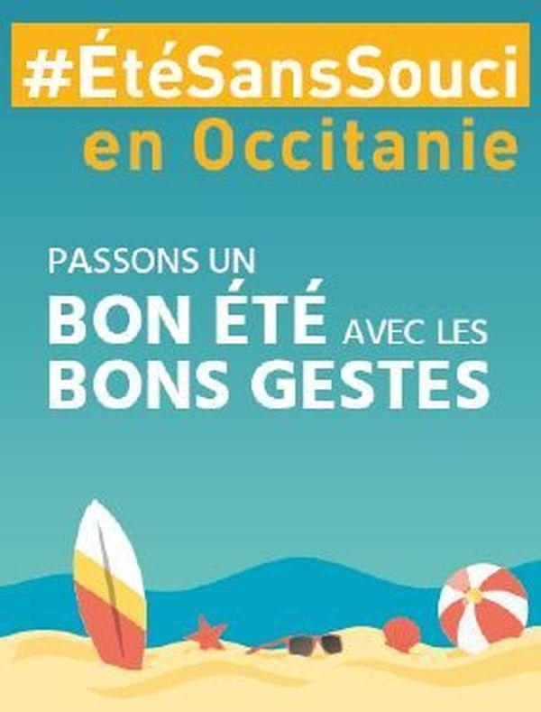L'affiche de la campagne de prévention organisée sur le littoral du Languedoc et du Roussillon.