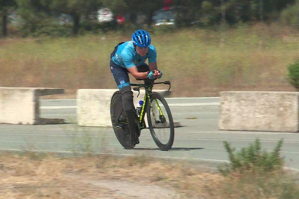 Elise Marc, vice-championne du monde en paracyclisme contre-la-montre, participera aux Jeux Paralympiques de Tokyo.