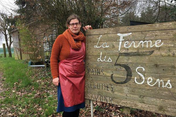 Tamara Cras, cofondatrice de la Ferme des 5 sens à Guipry-Messac (Ille-et-Vilaine)