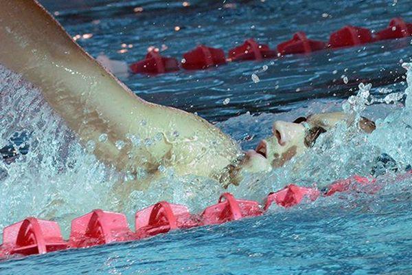 Jérémy Stravius à la piscine olympique de Dijon en juillet 2013 lors de la préparation aux championnats du monde de Barcelone