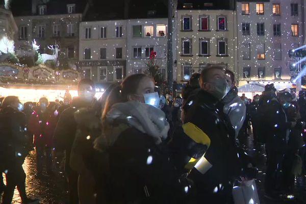 Le marché de Noël de Cherbourg, ce samedi 5 décembre 2020.