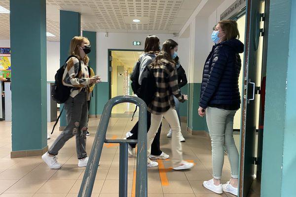 2 septembre 2021 : rentrée au lycée professionnel Le Hurle-Vent de Eu-Le Tréport (Seine-Maritime)