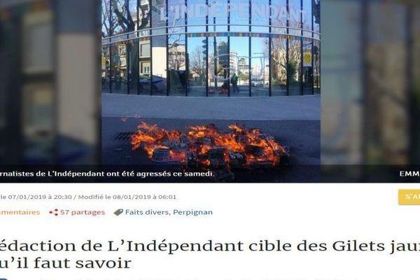 Capture site internet L'Indépendant