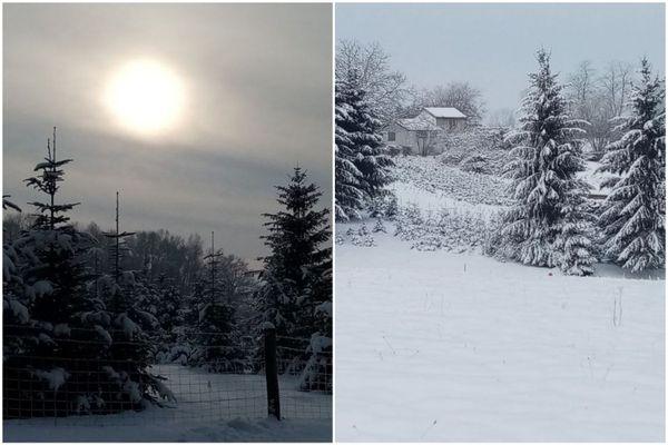 Randonnée enneigée dans la vallée Chausson.