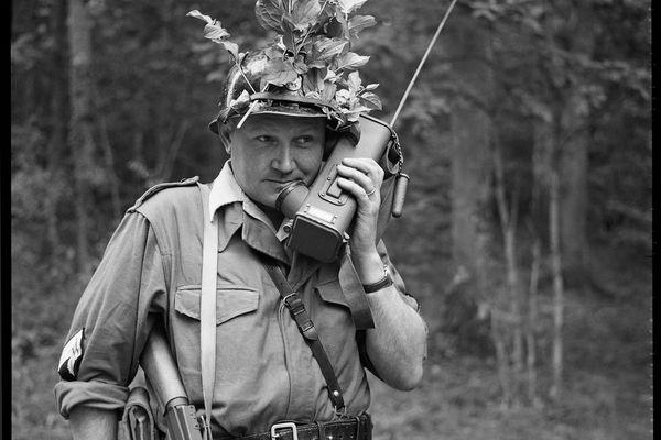 Réserviste de la section de transmission départementale pendant l'opération « Jimmy », Bourgogne, septembre 1962.
