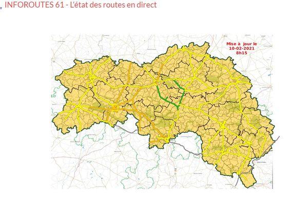 l'état des routes dans l'Orne
