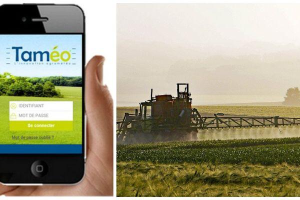 Taméo, une application développée par Météo France et Arvalis qui se veut un outil de conseil en temps réel pour les agriculteurs.