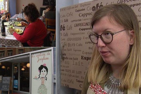 """Joséphine est serveuse dans la """"cantine-restaurant"""" créée par ses parents."""