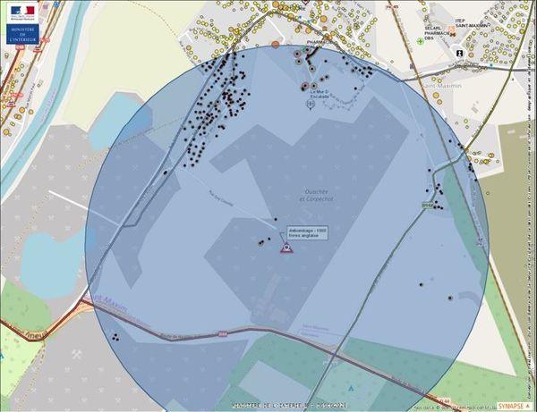 Les habitants situés dans un périmètre de 800 mètres autour de la bombe seront confinés chez eux de 9h30 à 16h au plus tard
