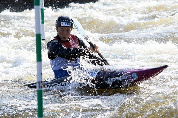 Camille Prigent, pendant les championnats d'Europe de canoë-kayak