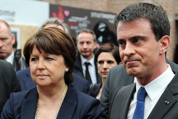 Martine Aubry et Manuel Valls à Lille en 2015.