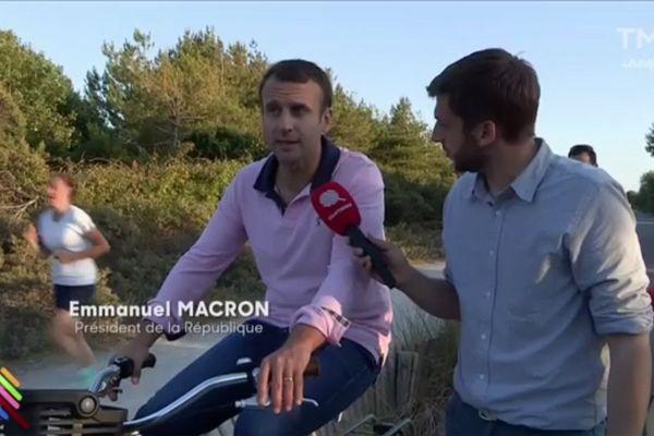 Emmanuel Macron en interview avec Quotidien