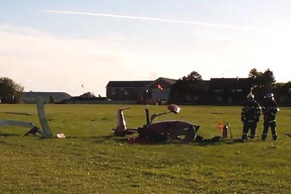 Le parachutistes et l'autogire se sont crashés sur l'aérodrome de Bénifontaine