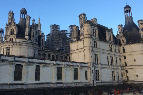 Vue du château de Chambord.