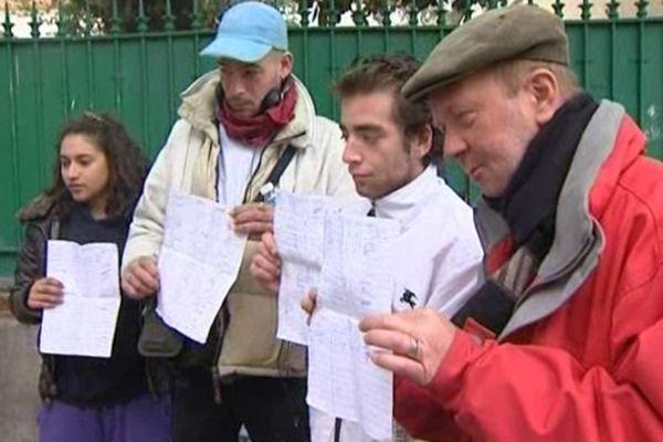 La pétition des SDF de Perpignan a recueilli plus d'une centaine de signatures en 24 heures.