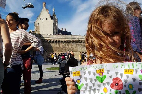 En juin 2020, plus de 2000 personnes étaient rassemblées au pied du château, près du miroir d'eau, pour la Marche pour le climat.