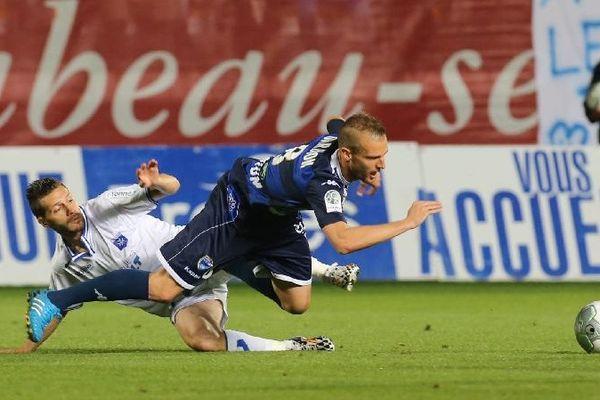 Dijon a battu Troyes 2-1 au stade de l'Aube dans le cadre de la 6e journée de Ligue 2 lundi 15 septembre 2014.