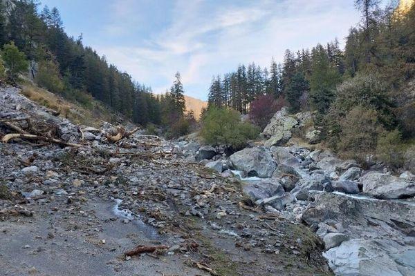 La nature du hameau de Castérino a été fortement endommagée par la tempête Alex en octobre 2020.