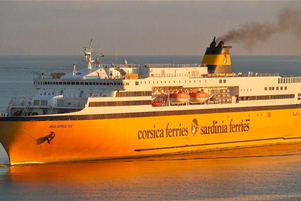 ILLUSTRATION - Le Mega Express Five de la compagnie italienne Corsica Ferries