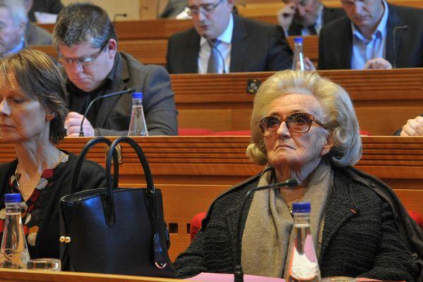 BERNADETTE CHIRAC lors de la dernière séance du conseil général de Corrèze.