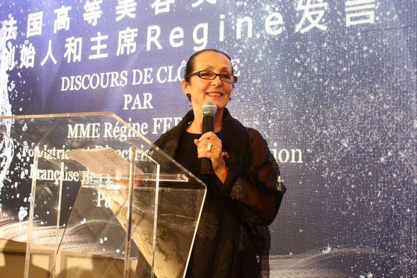 Régine Ferrère, lors de la présentation du campus à la délégation de partenaires chinois.