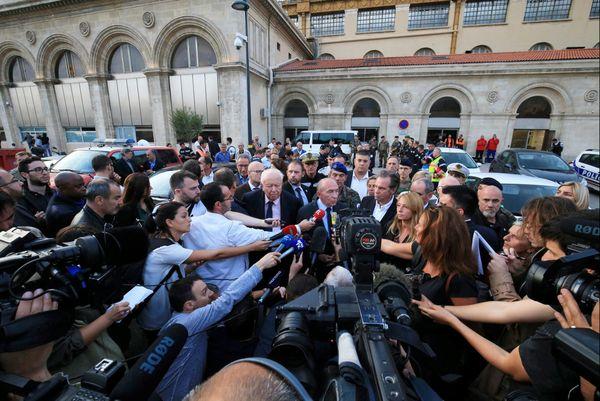 Gérard Collomb, gare Saint-Charles, le jour de l'attentat
