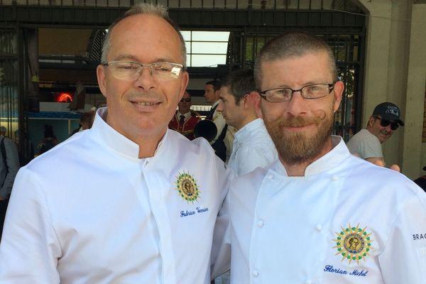 """Le Morbihannais Fabrice Vernier et le Finistérien Florian Michel sont tous deux membres de l'association """"Les Cuisiniers de la République française""""."""