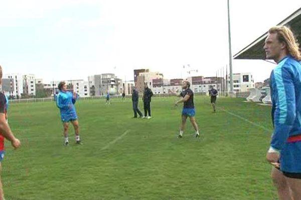 Les joueurs du MHR à l'entraînement avant le choc à Toulon - 3 novembre 2015