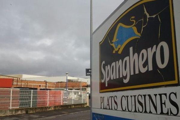 Une des entrées de l'entreprise Spanghero à Castelnaudary