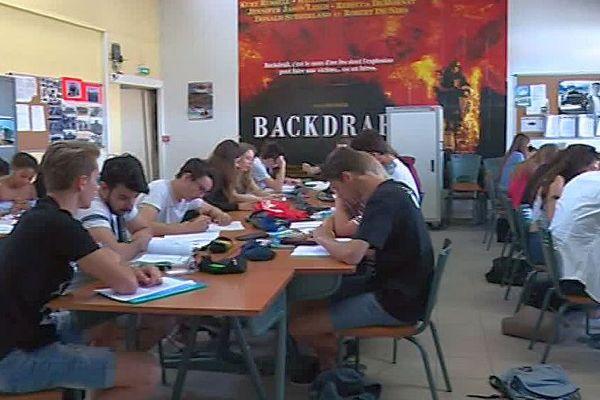 Castelnau-le-Lez (Hérault) - révisions de math au lycée Pompidou - 15 juin 2018.