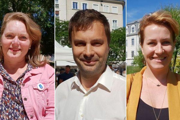 Cécile Prost, Olivier Six et Emilie Chalas. Trois candidats à l'investiture LREM pour les municipales à Grenoble