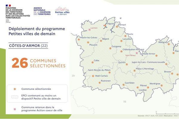 """ Petites villes de demain "" Côtes d'Armor"