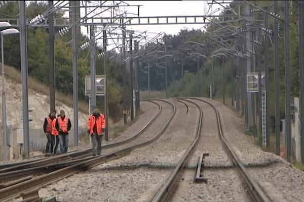 Test de raccordement sur la voie ferrée