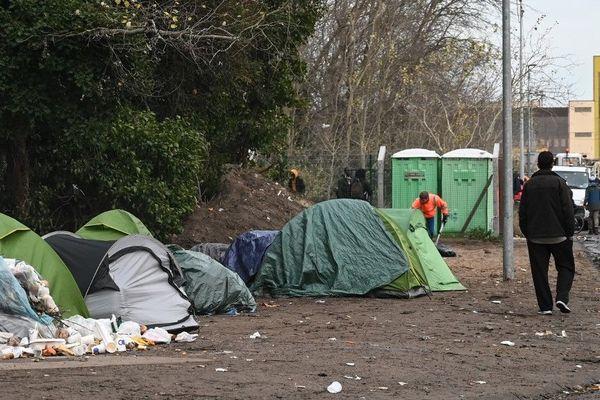 Un campement de migrants à Calais photographié en novembre dernier.