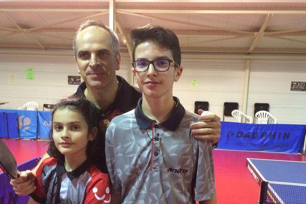 Nicolas le papa, Corélie et Mathéo : la ping family