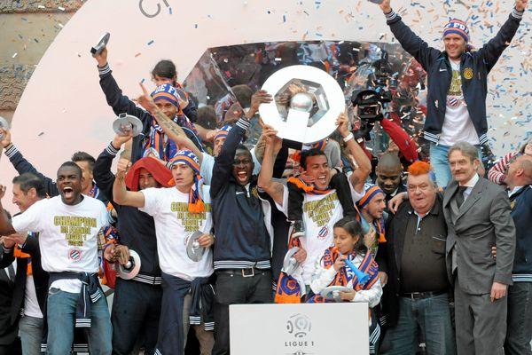 Le 21 mai 2012, l'équipe du MHSC et les dirigeants présentaient le trophée de champion de France aux milliers de personnes présentes sur la place de la Comédie.