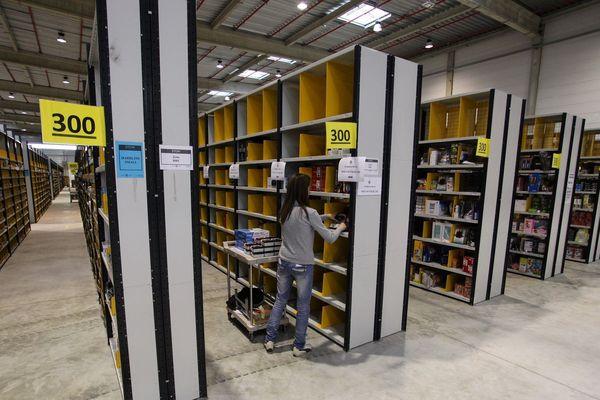 Centre logistique Amazon