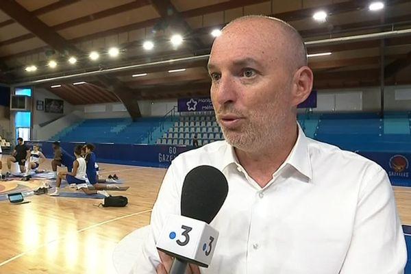 Franck Manna, président du BLMA, contraint par la raison à ne pas engager son club en Euroligue de basket-ball féminin en 2020-2021.