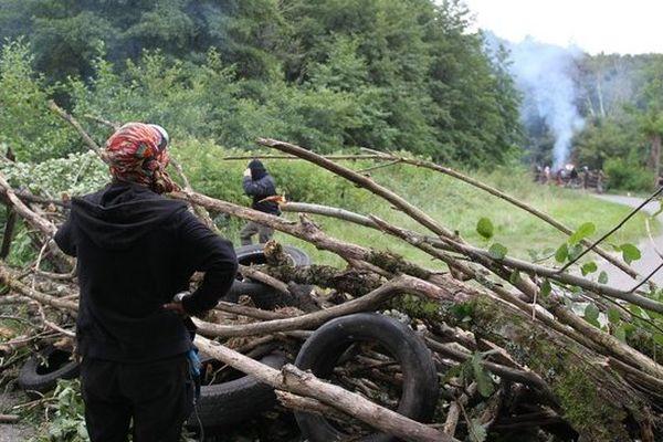Les opposants au barrage ont érigé des barricades à Sivens le 26 août 2014