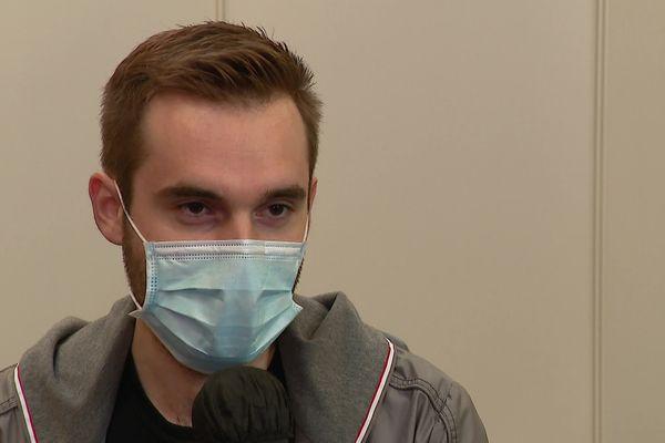Alexandre Bénac, 29 ans, a réussi à trouver un rendez-vous pour se faire vacciner.