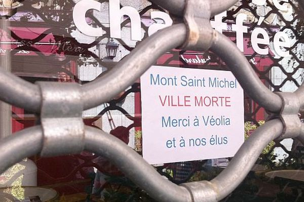 Opération ville morte au Mont-Saint-Michel, mercredi 3 avril 2013