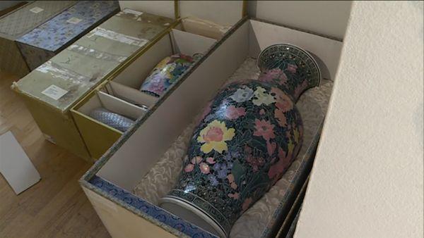 Vase du Musée du septennat en cours de déménagement - septembre 2019