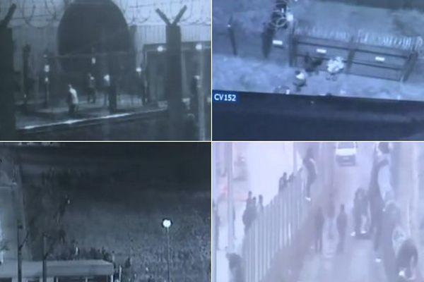 Images extraites des caméras de vidéosurveillance d'Eurotunnel.