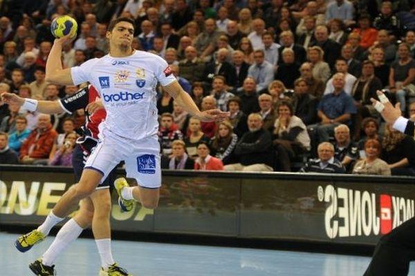 Mathieu Grébille (MAHB) contre Flensburg-Allemagne - septembre 2012.