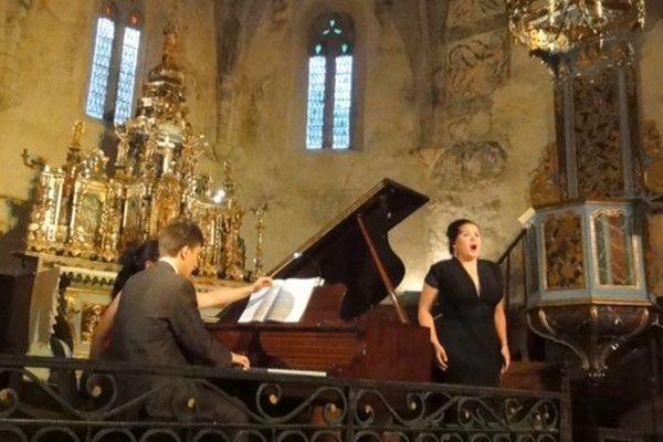 Le festival s'est ouvert avec la soprano Anaïs Constans et le pianiste Benjamin Carré, le 19 juillet à Bourisp.